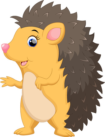 Cute hedgehog cartoon Illustration
