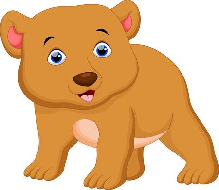 brown: Cute brown bear cartoon Illustration