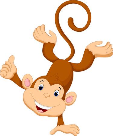 Małpa cute kreskówki Ilustracje wektorowe