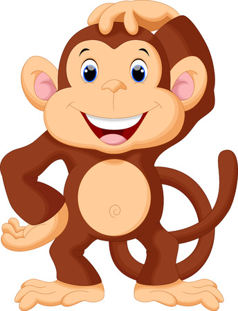 cute monkey: Cute monkey cartoon