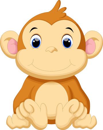 baby monkey: Cute baby monkey cartoon