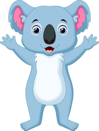 koala bear: Cute koala cartoon waving