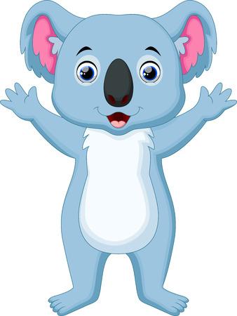 koala: De dibujos animados lindo koala agitando