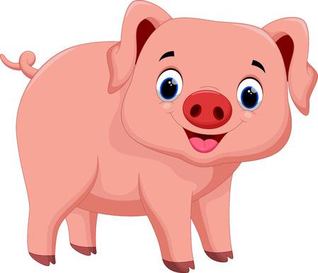 Mignon bande dessinée de porc