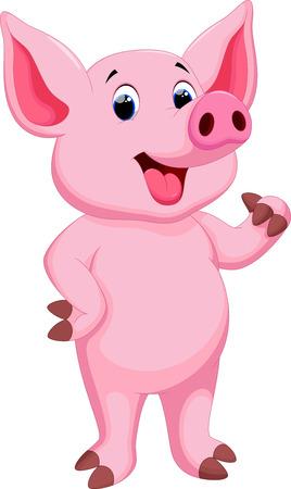 cerdo caricatura: Historieta linda del cerdo