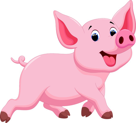 Cute pig cartoon Stock Vector - 43530034