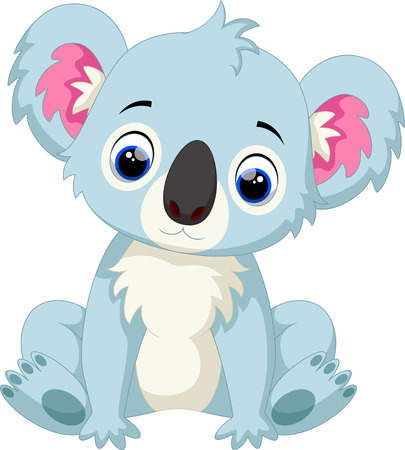 Cute koala baby cartoon