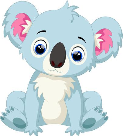 Schattige baby koala cartoon