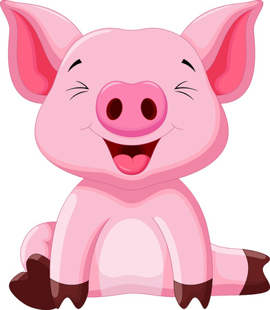 barnyard: Cute baby pig cartoon