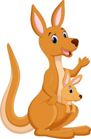 Mother kangaroo with her baby