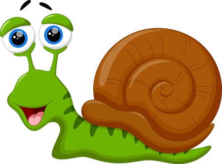 garden path: Cute snail cartoon Illustration