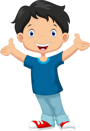 student boy: Happy boy cartoon