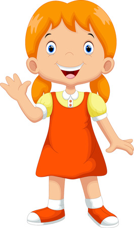 Cute girl cartoon Ilustrace