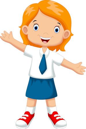 Linda chica en uniforme escolar