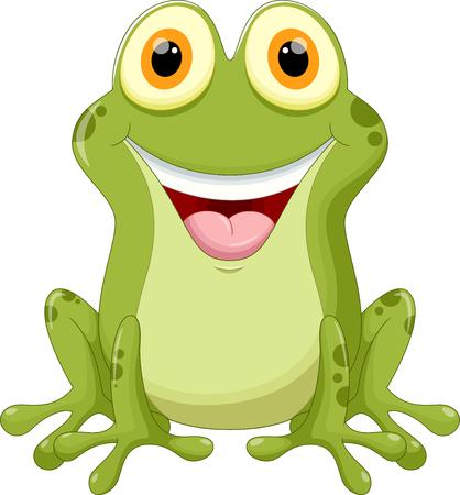 grenouille: Bande dessin�e mignonne de grenouille