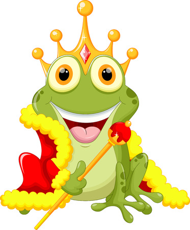 frog: Cute frog Prince cartoon