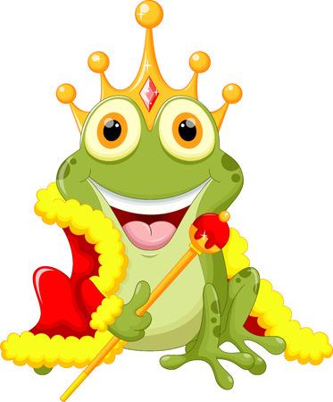 frog in love: Cute frog Prince cartoon