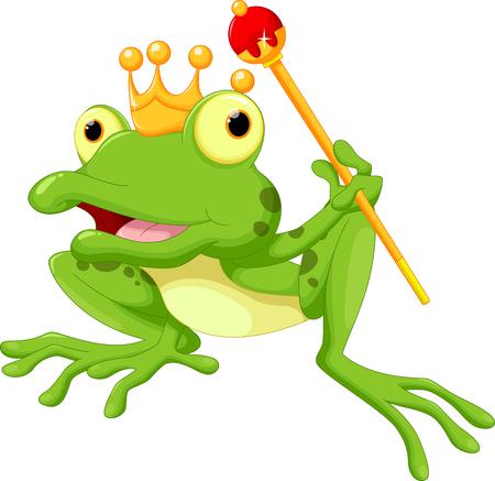 rana principe: Rana linda Príncipe de dibujos animados