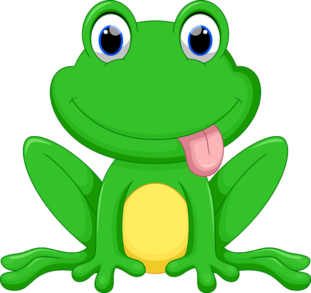 croaking: Cute frog cartoon