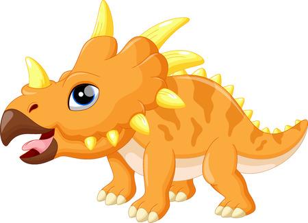 triceratops: Cute triceratops cartoon