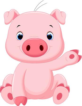 cute pig: Cute baby pig cartoon