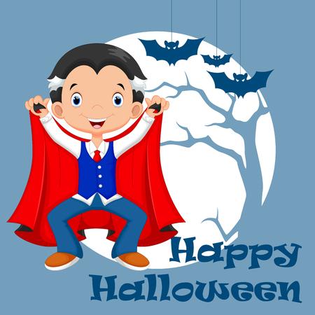 vampire bats: Funny cartoon little vampire