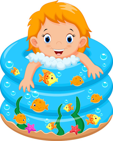 foam: Baby girl bath in a bathtub with lot of soap