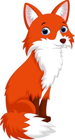 Vector illustration of cute fox cartoon