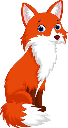 volpe cartoon: Vector illustration of cute fox cartoon