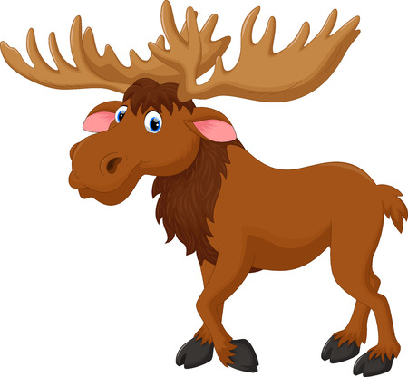 Illustration of moose cartoon Çizim