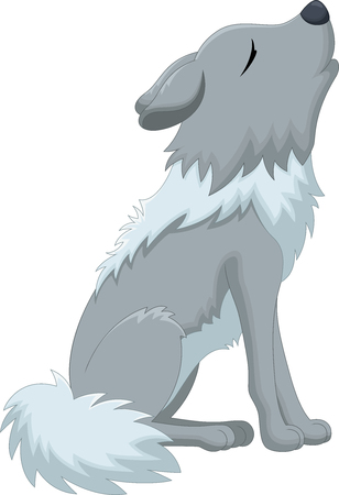 hungry: Vector illustration of Wolf howling cartoon