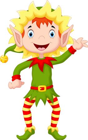 happy christmas: Happy christmas elf cartoon Illustration
