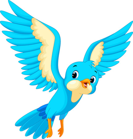 flying bird: Cute bird cartoon