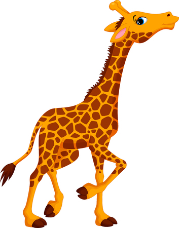 humor: Cute giraffe cartoon