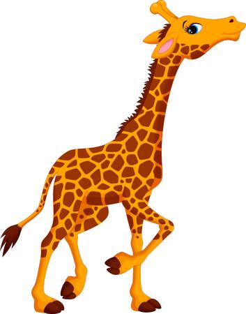jirafa caricatura: Historieta linda de la jirafa