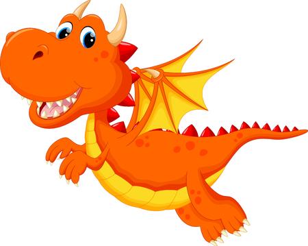 cute dragon: Cute dragon cartoon