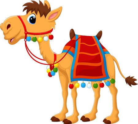 kameel van het beeldverhaal met zadelmakerij