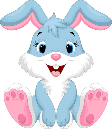 cartoon rabbit: Cute rabbit cartoon