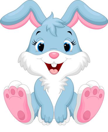 zwierzaki: Słodkie królik kreskówki