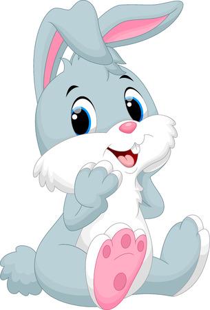 lapin blanc: Bande dessin�e mignonne de lapin