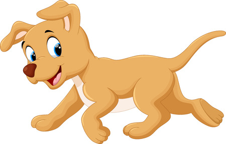 domestic animals: Cute dog cartoon