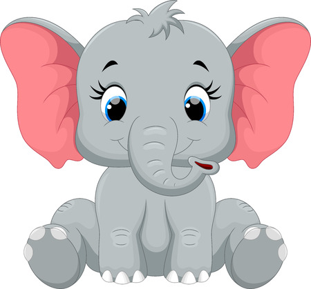 Cute elephant cartoon sitting Stok Fotoğraf - 50993710