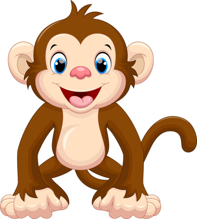 Cute cartoon małpa