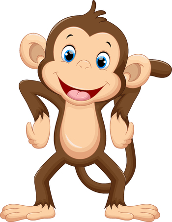 baby illustration: Cute monkey cartoon