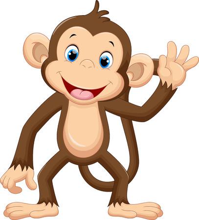 Cute małpa macha