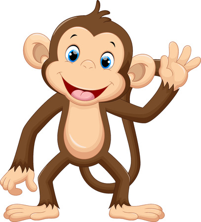 Cute monkey waving