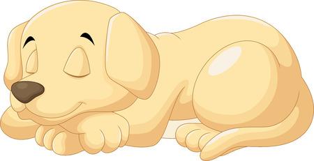 El dormir lindo del perrito Ilustración de vector