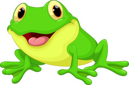 grenouille: Bande dessinée mignonne de grenouille