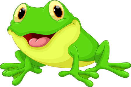 medio ambiente: Historieta linda de la rana