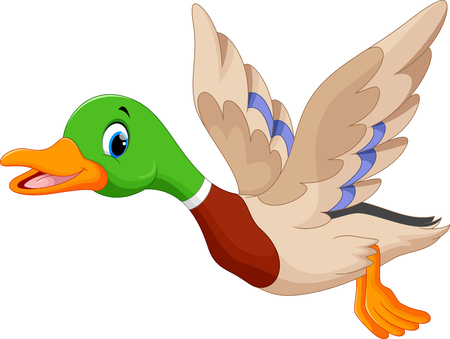 animal farm duck: Cartoon flying duck